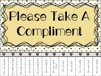 Take a Compliment Please