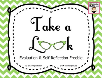 Take a Look - Evaluation & Self-Reflection FREEBIE