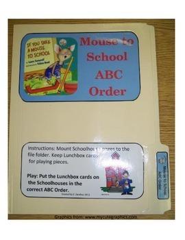 Take a Mouse to School ABC Order: File Folder