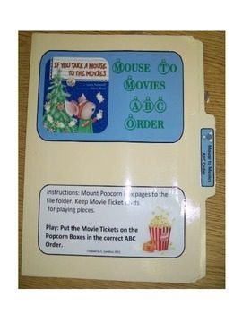 Take a Mouse to The Movies ABC Order--file folder