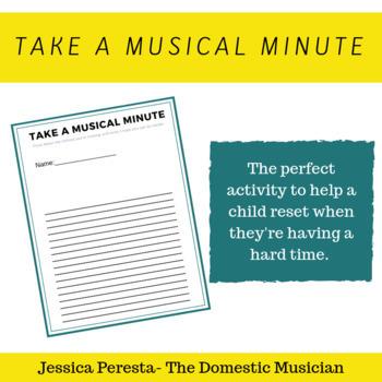 Take a Musical Minute timeout sheet