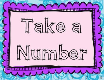 Take a Number Poster