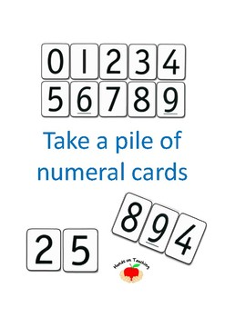 Take a Pile of Numeral Cards