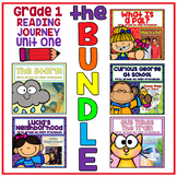 Distance Learning Take a Reading Journey First Grade Unit 1 NO PREP BUNDLE