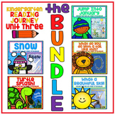 Distance Learning Take a Reading Journey Kindergarten Unit 3 NO PREP BUNDLE