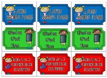 Take a Ticket - Kids Version - Editable