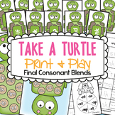 Final Consonant Blends Games - Take a Turtle