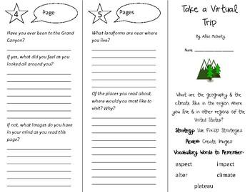 Take a Virtual Trip Trifold - 4th Grade Literacy by Design Theme 5