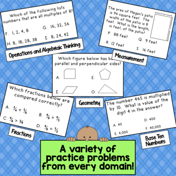 Take a Walk in the PARCC - Common Core 4th Grade Math Test Prep Task Cards