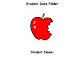 Data Folder Record Sheets for numbers, letters, shapes and colors