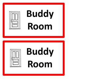 Take a break and buddy room passes (and thinking sign)