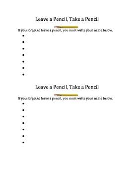 Take a pencil, leave a pencil