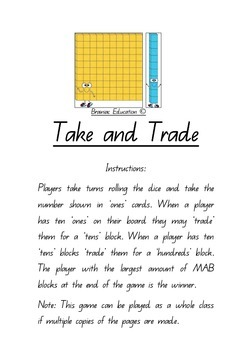 Take and Trade - MAB / Base Ten Game