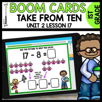 Take from Ten (8 & 9) BOOM CARDS [Module 2 Lesson 17]
