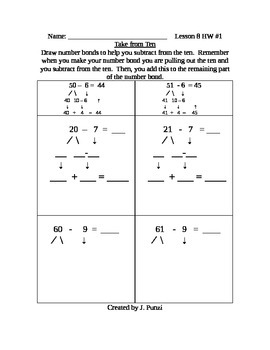 Take from Ten Second Grade Math Module 1 Homework