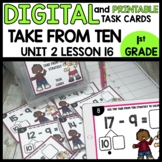 Take from Ten or Counting Up Strategy DIGITAL TASK CARDS |