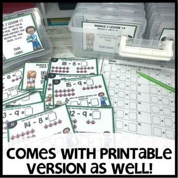 Take from Ten to Solve DIGITAL/PRINTABLE TASK CARDS
