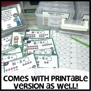 Take from Ten to Solve DIGITAL TASK CARDS    PRINTABLE TASK CARDS