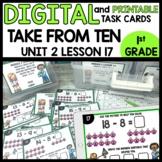 Take from Ten to Solve DIGITAL TASK CARDS |  PRINTABLE TASK CARDS