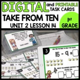 Take from Ten to Solve Strategy DIGITAL TASK CARDS | PRINT