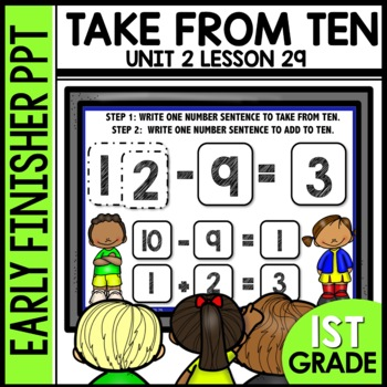 Early Finishers Activities | Take from ten to solve