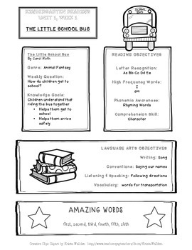 Take-home Handout for Common Core Reading Street - Unit 1, Week 1