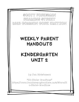 Take-home Handouts for Common Core Reading Street - Kindergarten Unit 2