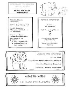 Take-home Handouts for Common Core Reading Street - Kindergarten Unit 2