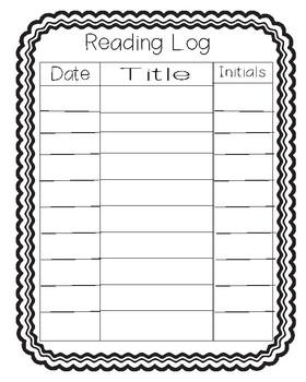 Take home book bag/reading log