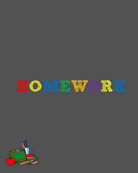 Take home folder (All grade levels)