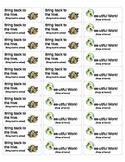 Take home folder labels for a bee theme