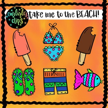 Take me to the BEACH clip art