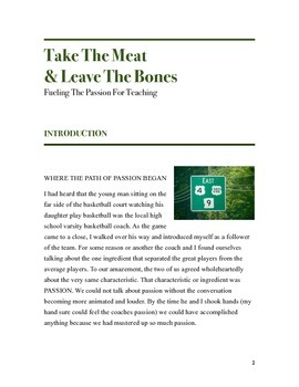 Take the Meat & Leave the Bones:Fueling the Passion for Teaching - HUMOR