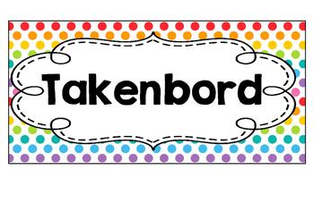Takenbord  -  Polka  dots  multi