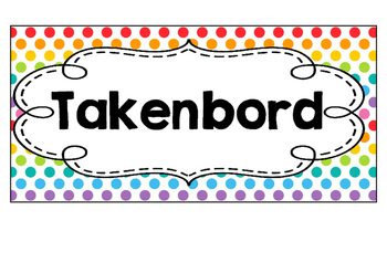 Takenbord  -  Polka  dots  multi