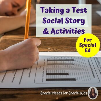 Taking A Test Social Stories, Activity and Power cards