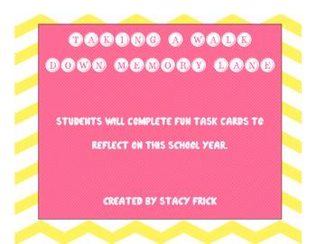 Taking A Walk Down Memory Lane Task Cards