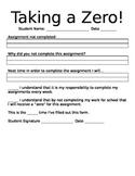 """Taking A Zero"" Incomplete Assignment Behavior"