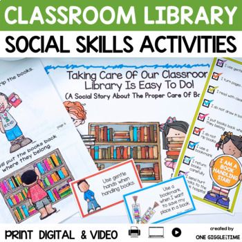 Taking Care Of Our Classroom Library Is Easy To Do! (A Soc