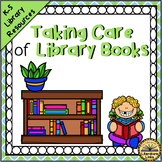 Book Care Library Pocket Chart Lesson, Booklet, Posters, Flyers, Bookmarks