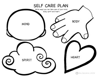 Self Care Plan for Younger Children