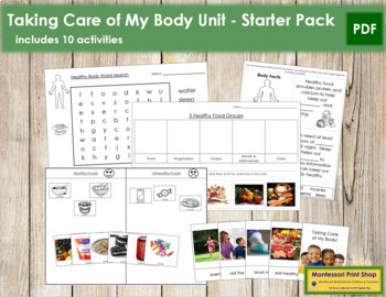 Taking Care of My Body: Unit Starter
