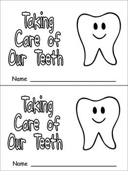 Taking Care of Our Teeth Emergent Reader for Kindergarten- Dental Health Month
