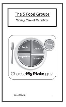 Taking Care of Ourselves: Food Groups (Week 3) Common Core Weekly Lesson Plan