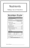 Taking Care of Ourselves: Nutrients (Week 2) Common Core Weekly Lesson Plan