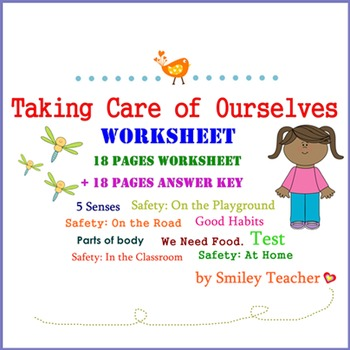 Taking Care of Ourselves Worksheet for G.1 - 3