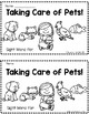 """Taking Care of Pets! A Sight Word Emergent Reader """"for"""""""
