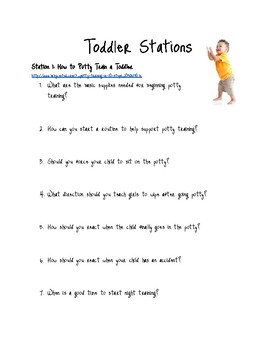 Taking Care of Toddlers Stations-Child Development/FACS