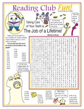 Taking Care of Your Teeth Two-Page Activity Set