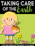 Taking Care of the Earth Writing Freebie